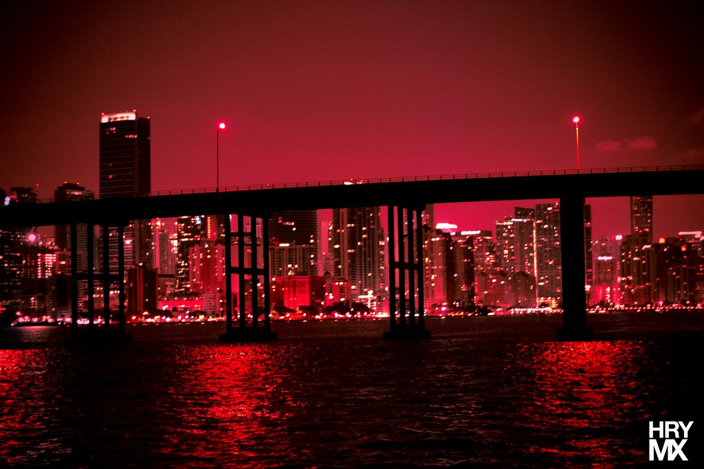 Black And White Wallpaper Hd Miami Skyline Red Miami Florida Hrymx Flickr