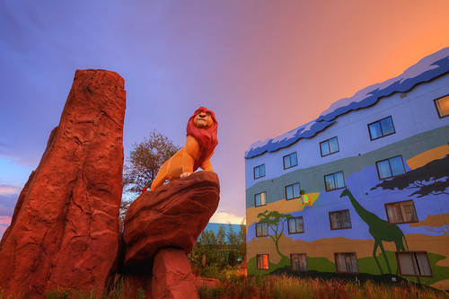 """You must take your place in the Circle of Life"" (Lion King wing at Disney's Art of Animation Resort)"