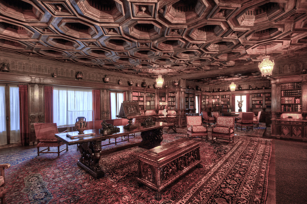 Hearst Castle Library  Library Guests of the historic Calif  Flickr