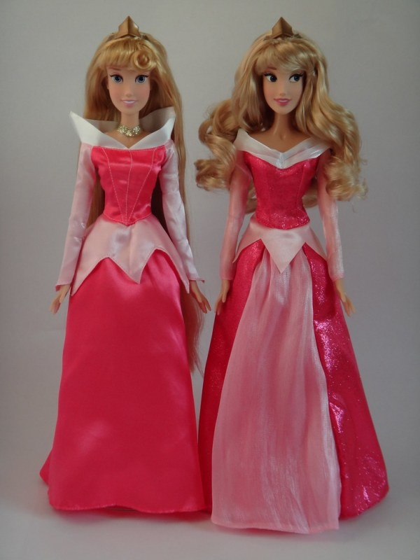 Singing Aurora Dolls 2011 and 2012 Disney Store Models
