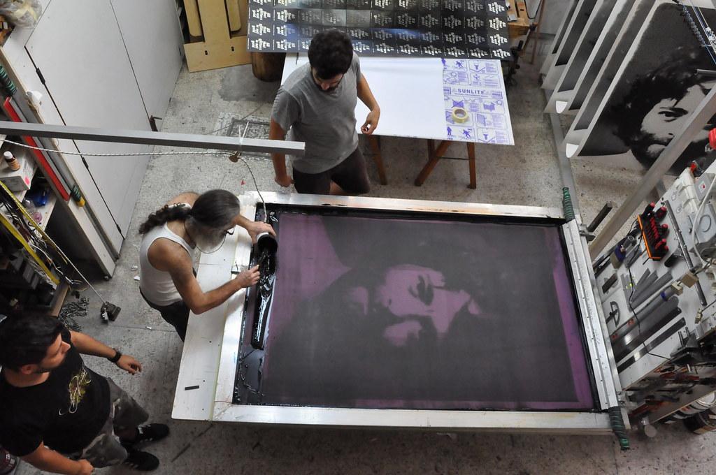 Back to Basics  Huge Silkscreen Print  001  My hipster