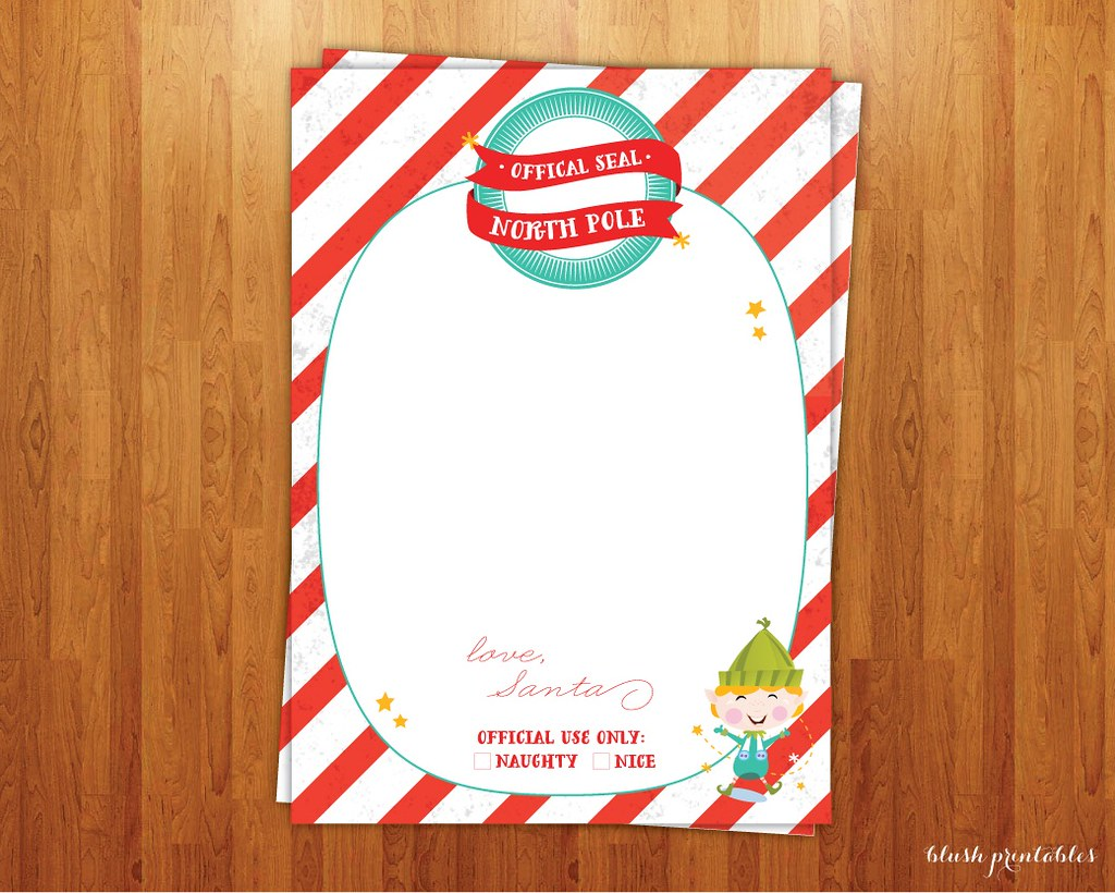 Letter From Santa Christmas Wish List Naughty Nice North P
