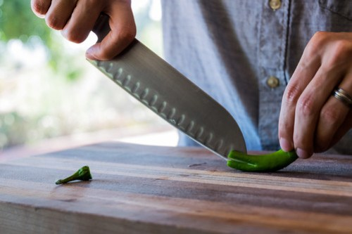 scoring the pepper to release its heat more easily