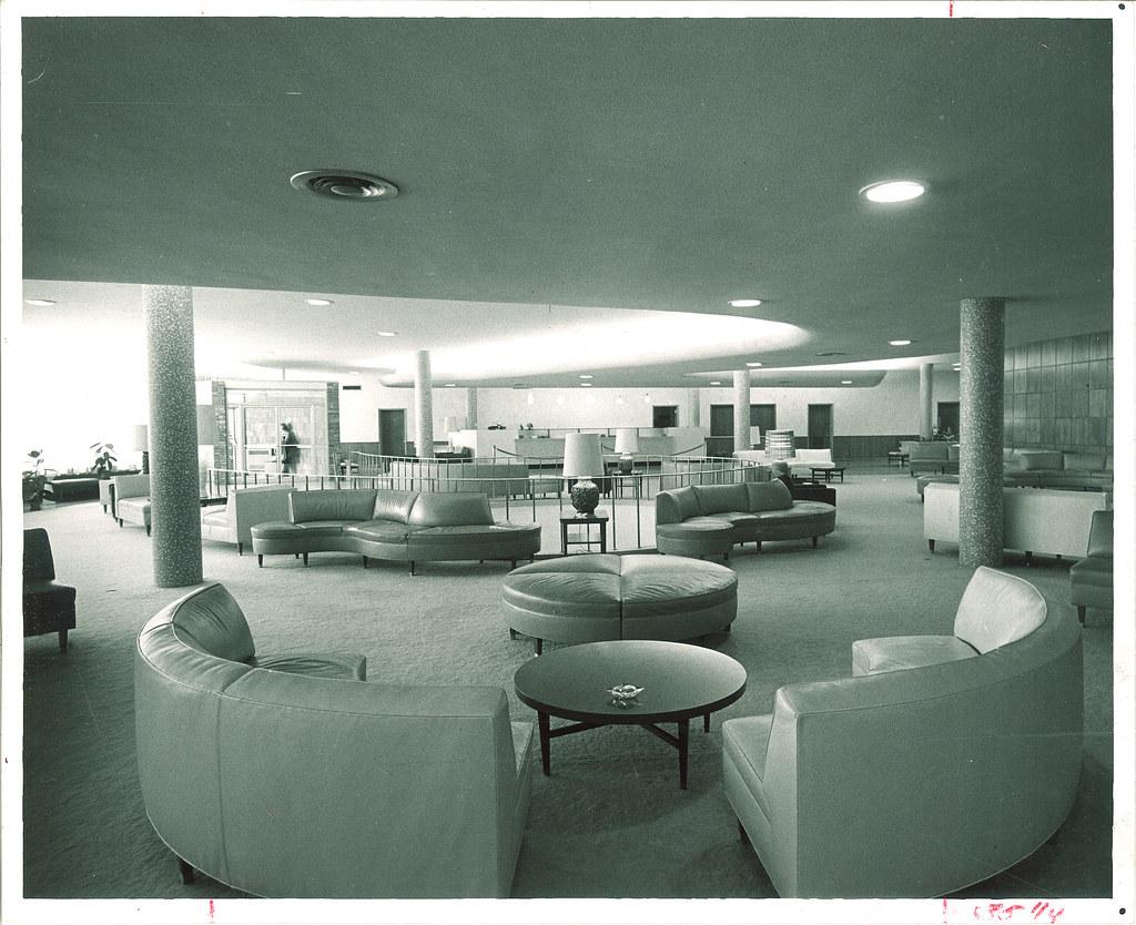 Lobby of Burge residence hall The University of Iowa 196