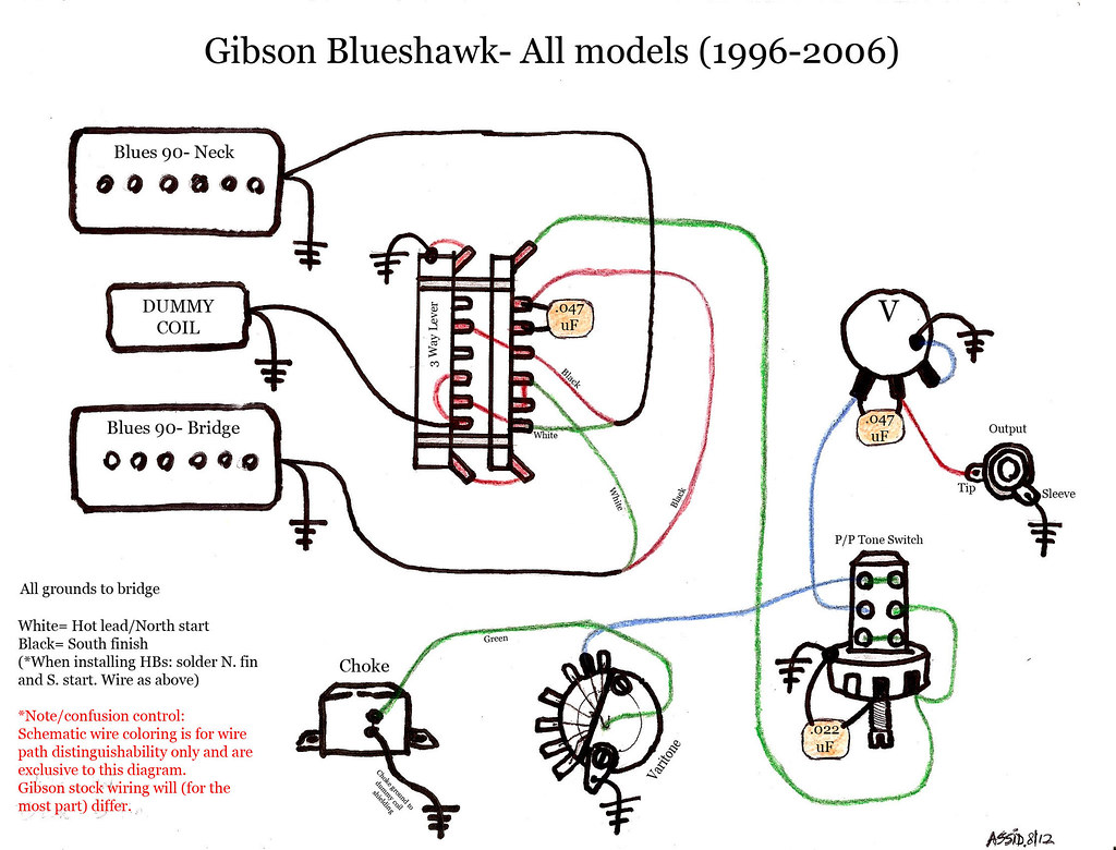 hight resolution of blueshawk wiring diagram schematic gibson color gibson blu flickr gibson les paul black beauty blueshawk wiring
