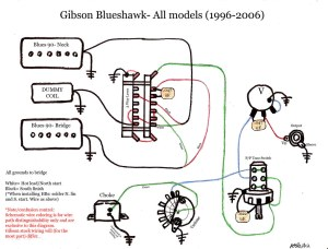 blueshawk wiring diagram schematic gibson color | gibson