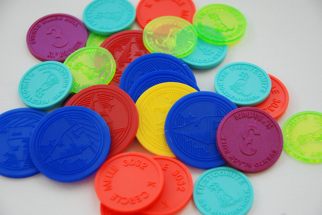 plastic token  Tokens made out of plastic are ideal for