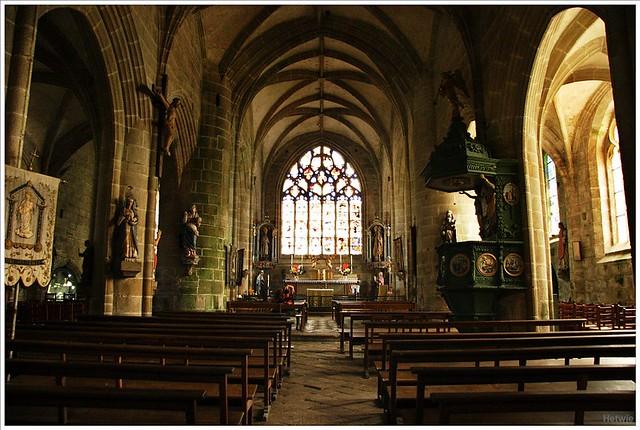 St Ronankerk Locronan Frankrijk