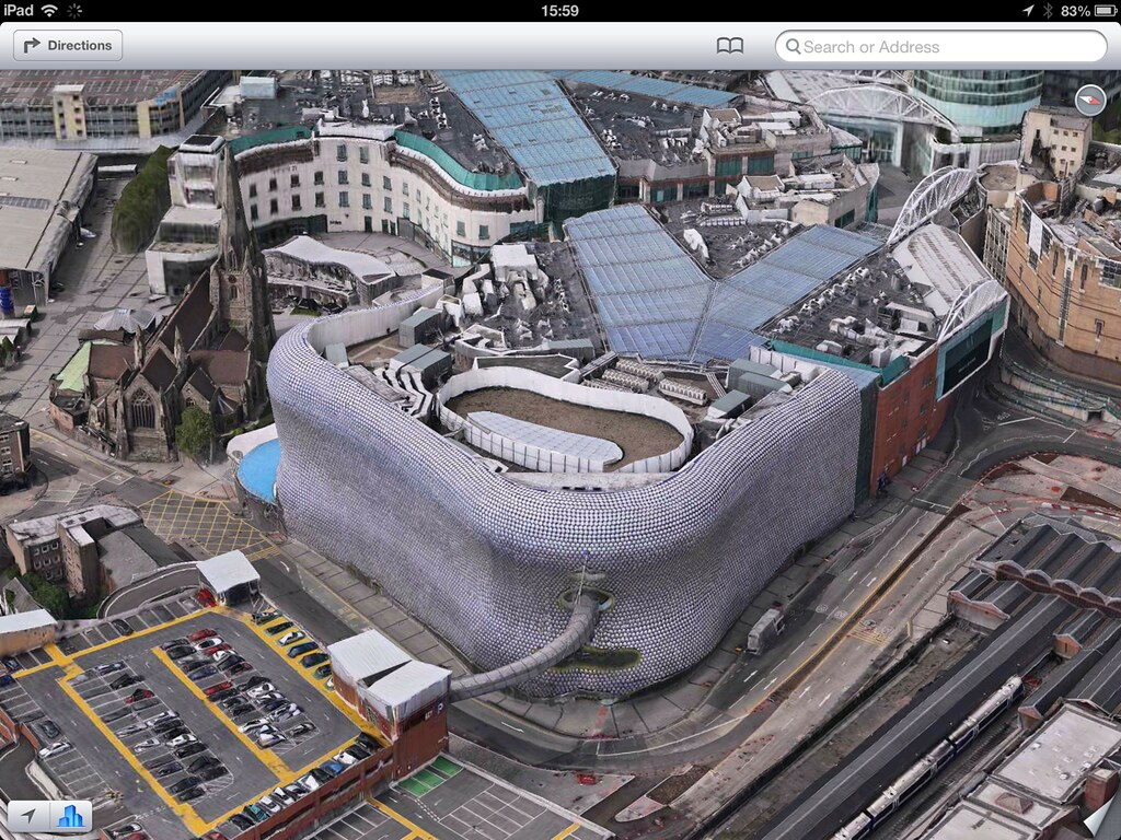 Selfridges Birmingham 3d View From IOS 6 Showing The
