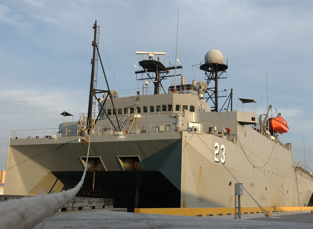 USNS Impeccable TAGOS 23  USNS Impeccable seen moored at  Flickr