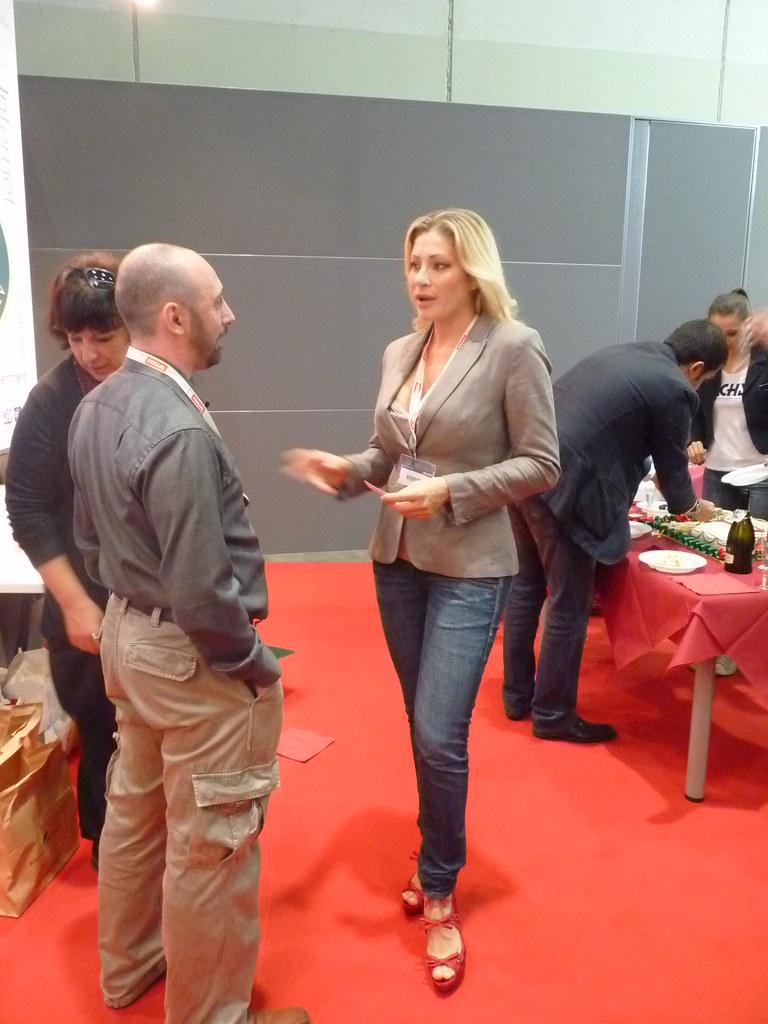 Francesca Sensini Roberto Scano e Vittoria Risi a SMAU Mi  Flickr