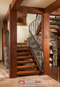 Timber Frame Stairs | Arizona PrecisionCraft Timber Home ...