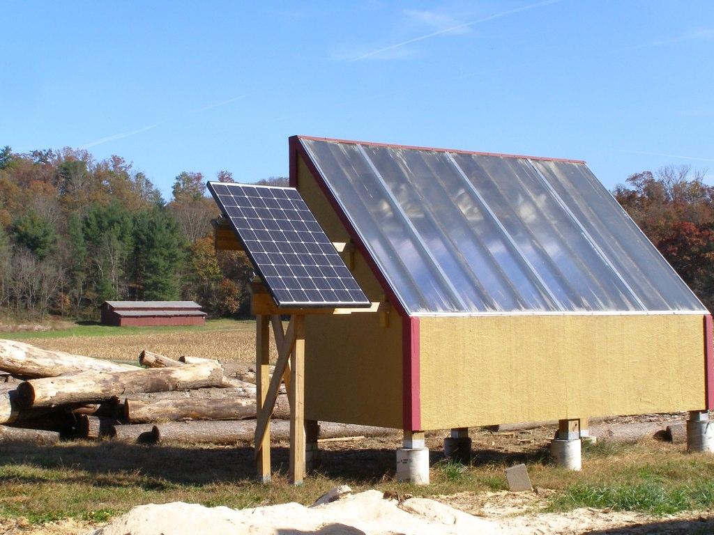 Solar Lumber Kiln  For drying the freshcut plank lumber