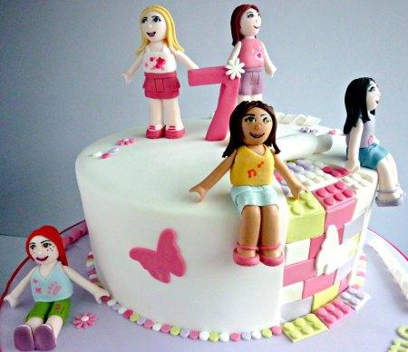 gateau d'anniversaire Lego Friends pour fille