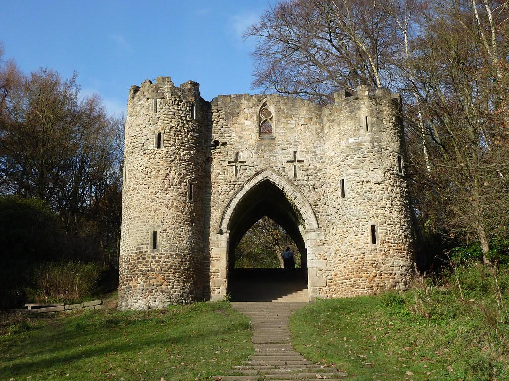 The Castle Roundhay Park Leeds Yorkshire  A folly built