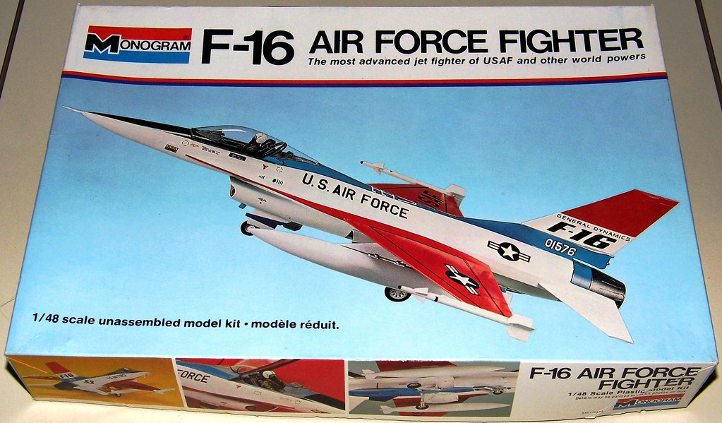 Vintage General Dynamics F16 Air Force Fighter Plane Plas
