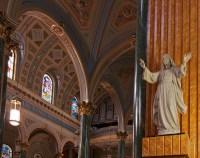 Saint Jean Baptiste Catholic Church Vaulted Ceiling and Je ...