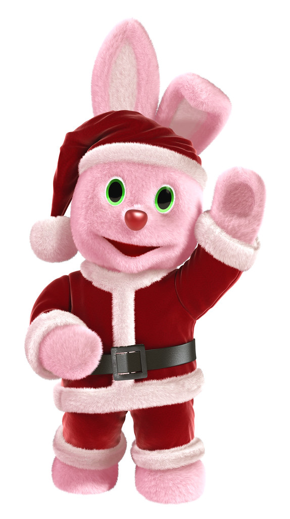 Duracell Santa Bunny Merry Christmas Copyright Duracell