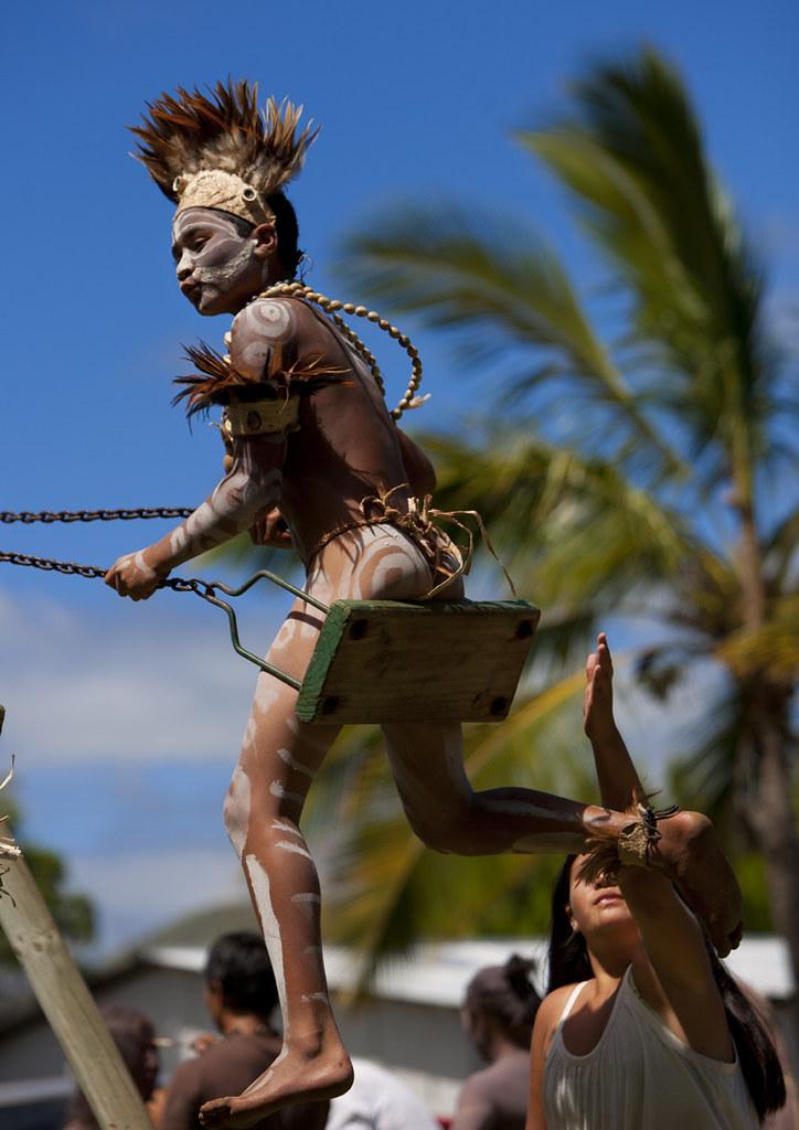 Kid During Tapati Festival Easter Island Chile  Tapati