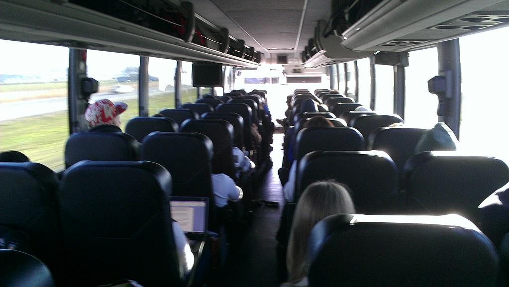 Bolt Bus Interior Looking Forward  My first trip aboard
