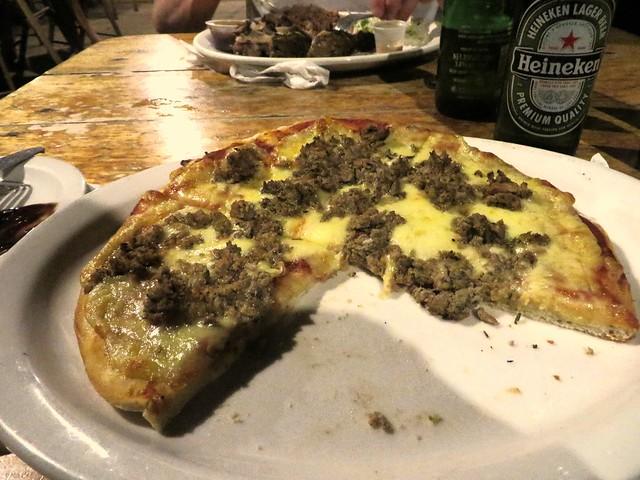 jerk sausage pizza, jack sprat restaurant, treasure beach, best food in jamaica, things to eat in jamaica, jamaican food