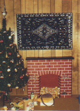 1970s christmas tree and cardboard fireplace  Brian Noe
