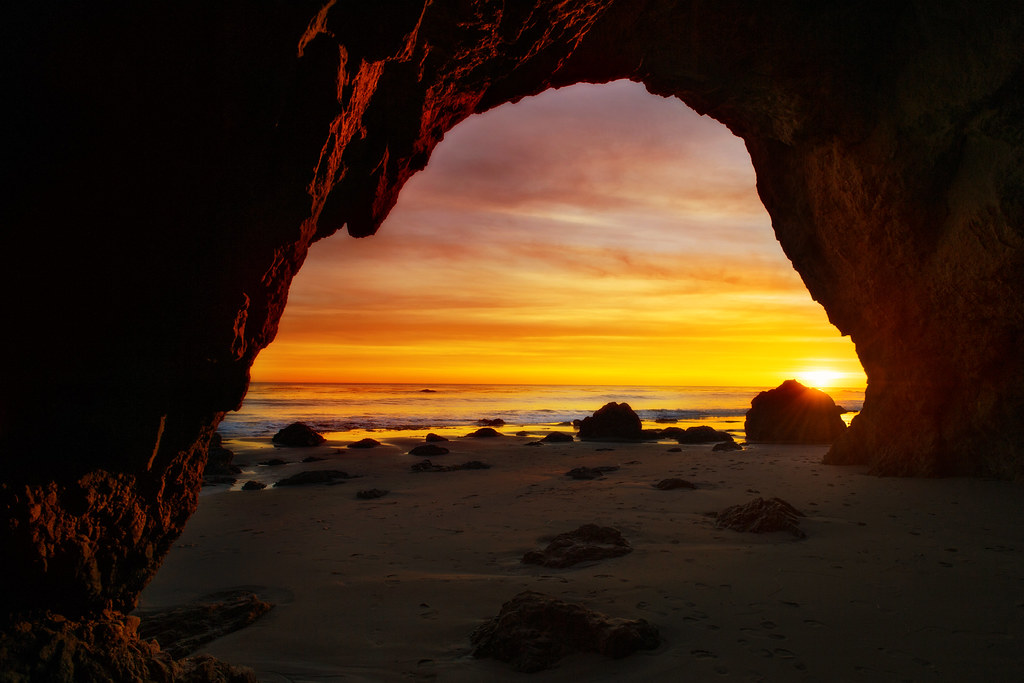 Sunset Cave  Ive had this photo on my mind for about 2