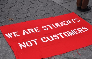 Image result for students protest student debt for college