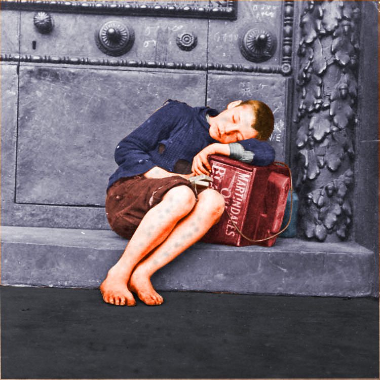 Barefoot shoeshine boy Liverpool England c1910  Flickr