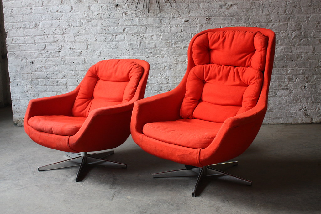 mid century egg chair ikea covers uae double trouble pair of modern selig imperial flickr lounge chairs