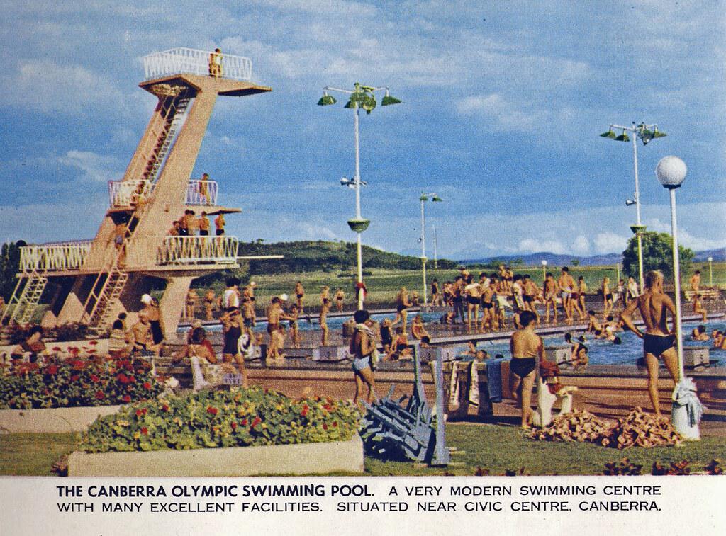 Olympic Swimming Pool Canberra Australia Circa 1960