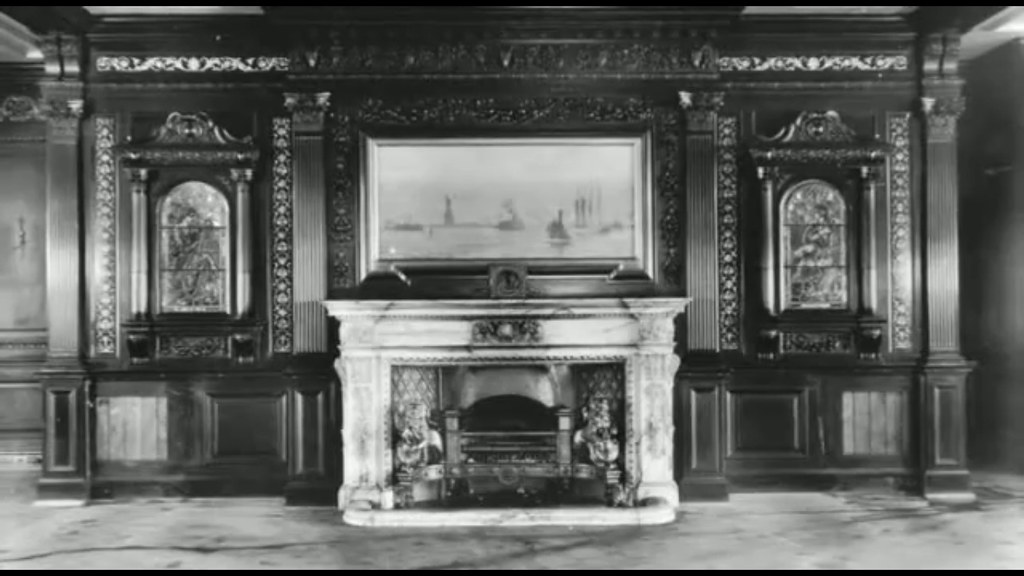 Frontal Fireplace Panel of 1st Class Smoking Room of RMS  Flickr