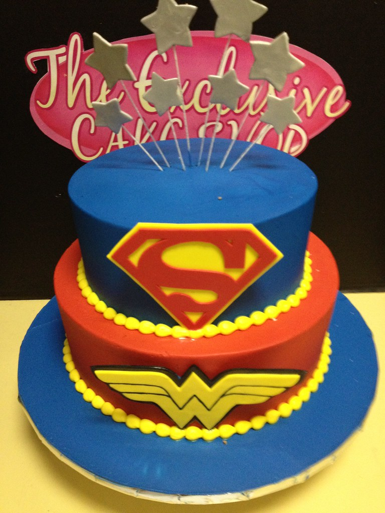 Superman And Wonder Woman Cake Exclusive Cake Shop Flickr