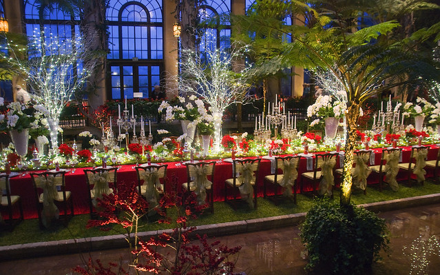 Christmas Banquet Table Longwood Gardens Conservatory