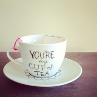 Hand drawn tea cup by @skeletonroad ~ bit cute #teacup #ha