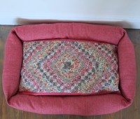 A patchwork dog bed | A bed for Nell: a patchwork of ...