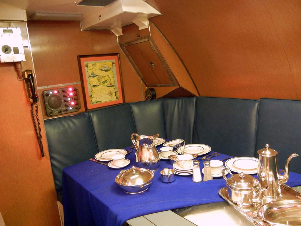USS Requin Submarine  Captains Dining Room  USS Requin
