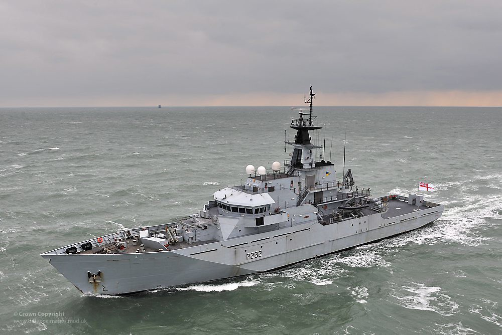 Fishery Protection Vessel HMS Mersey  River Class Patrol