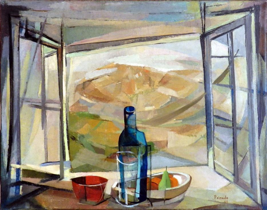 Naturaleza muerta ante ventana 1965 oleo sobre tela Museo Joaquin Peinado Ronda Malaga 06