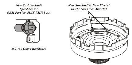 FORD 4R70E/4R75E NEW TURBINE SHAFT SPEED SENSOR 2