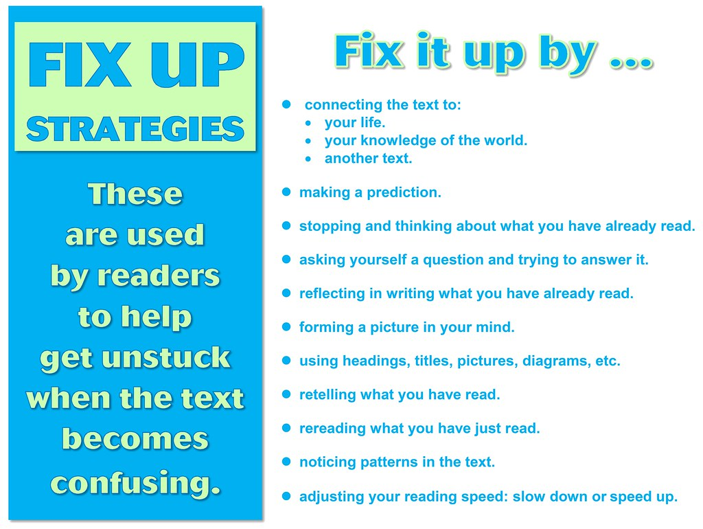 Fix Up Strategies For Readers