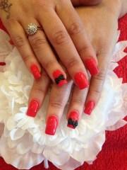 acrylic nails with pink polish