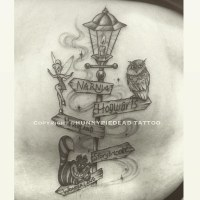 #lamppost #Disney #tinkerbell #owl #chesirecat #tattoo #wo