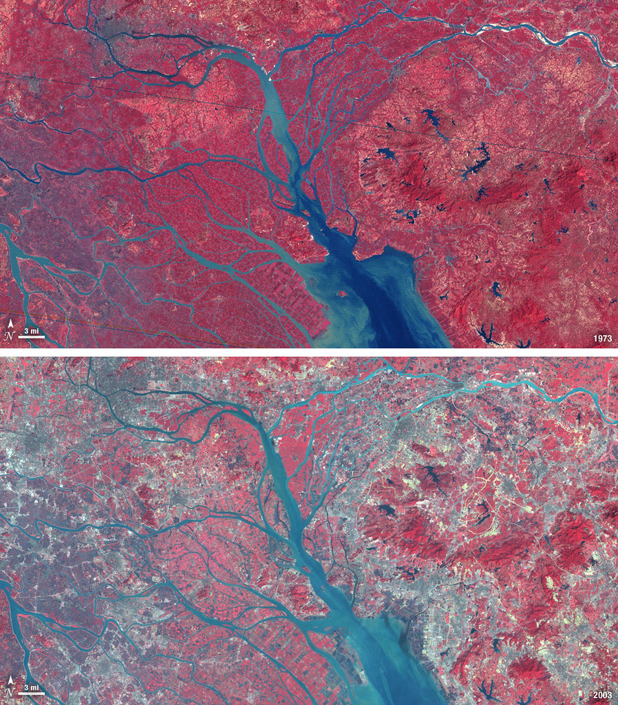 Landsat View Pearl River Delta China  In 1979 China esta  Flickr