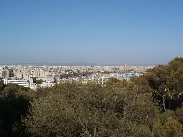 Vistas de Palma desde el Castillo de Bellver