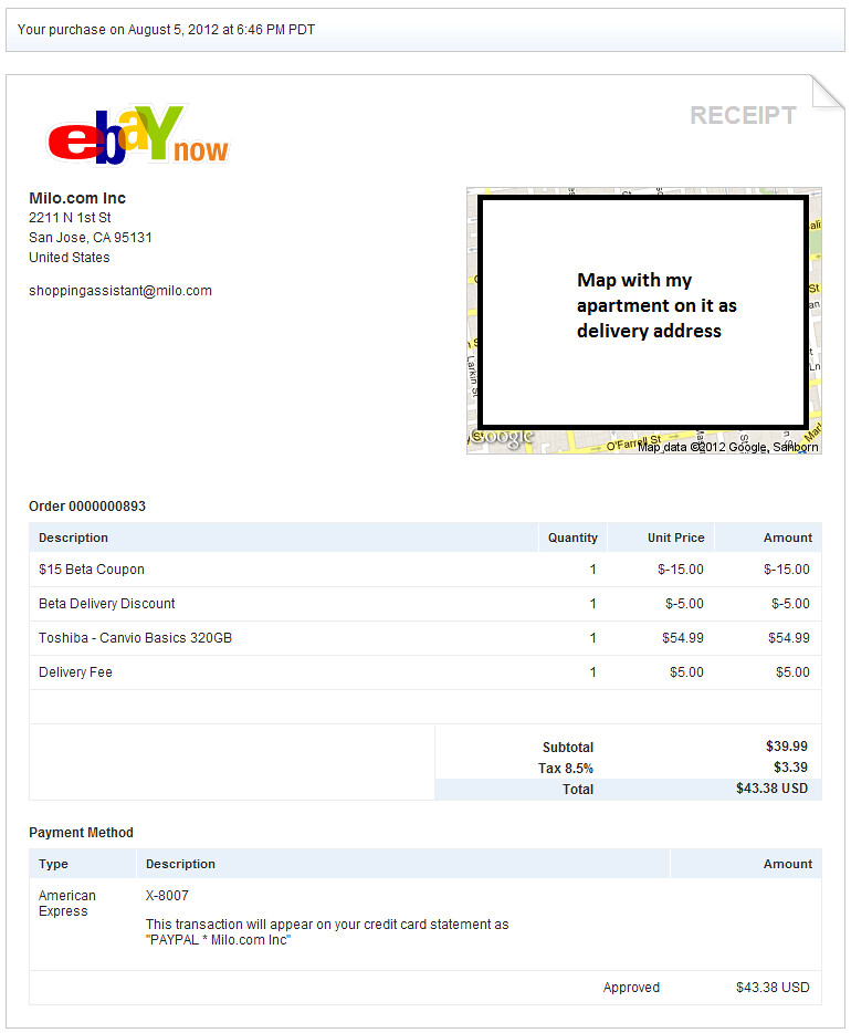 Ebay Now Receipt Rakesh A Flickr