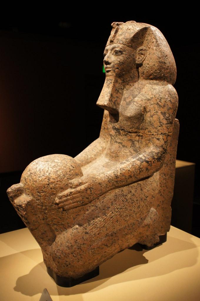 Kneeling statue of Hatshepsut  Red Granite Thebes Deir