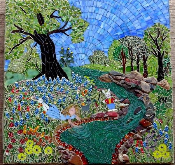 Alice Mosaic Illustration Of In Wond