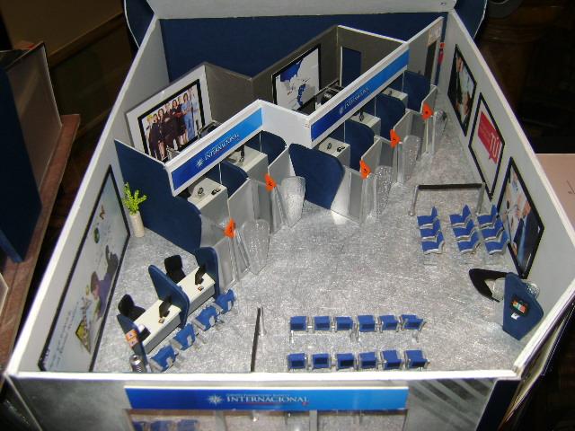 Vista interior de la maqueta del Banco Internacional  Flickr