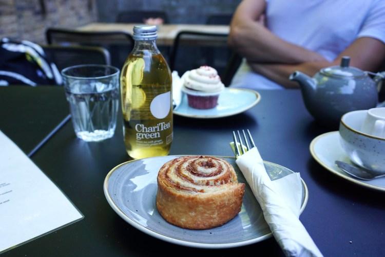 Gluten free cinnamon bun from Beyond Bread bakery (Beyond Bread islington branch)
